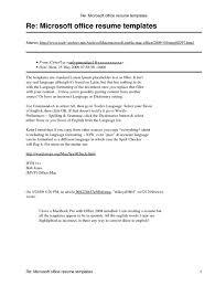 Gallery Images Of Free Resume Templates Microsoft Word 2007 More