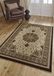 black and cream rug. Heritage Rug Black Cream 4400 And C