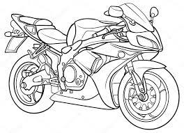 Kleurplaat Racemotor Leuk Voor Kids Motor 0002 Kleurplatenlcom