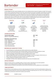 Resume For Bartender Simple Sample Bartender Resume Examples Hospitality CV Templates Free
