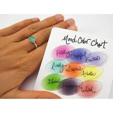 Mood Ring Emotions Chart Colour Chart For Mood Rings Mood Ring Colours And What They