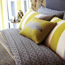 bedding lace stripe head of bed detail