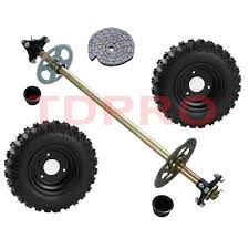 details about go kart rear axle kit complete t8f chain set wheels off road fun cart parts diy