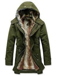 faux fur midi length solid color slim men s winter coat