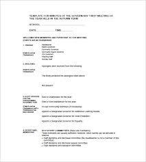 Format Of A Meeting Minutes Sample 8 Reinadela Selva