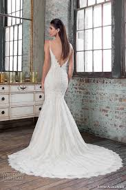low back fit and flare wedding dress 6534