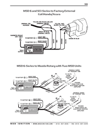 msd ford ready to run distributor wiring diagram wiring library msd 6 and sci series to honda acura factory external coil msd wiring diagrams