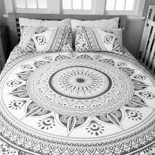 indian traditional king size mandala design bed sheet double size bed cover ssth02