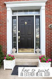 how to refinish front doorHow To Paint A Metal Door