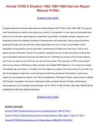 honda vt c shadow service r by tomokostott issuu honda vt700 c shadow 1983 1984 1985 service repair manual vt700c here