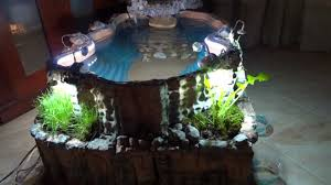 Diy Pond Diy Indoor Pond With Waterfall Youtube
