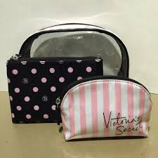 victoria s secret victorias secret trio cosmetic bag from thess s closet on poshmark
