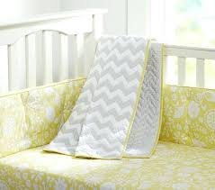 yellow baby bedding set pottery barn kids mustard