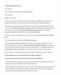 Rent Increase Letter To Tenants Rent Increase Letter Template California Landlord In Word
