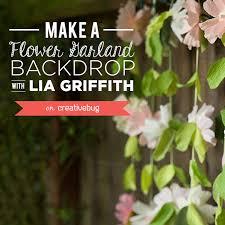 Paper Flower Backdrop Garland Make A Flower Garland Wedding Backdrop Lia Griffith