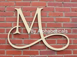 monogram wall letters initials monogram wall decor letters hanging script baby name wooden nursery art