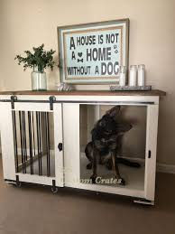 furniture pet crate. Custom Dog Crate Furniture *** Click Image For More Details. #DogCratesHousesPens Pet