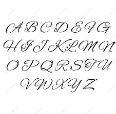 Cursive Letter Stencils Printable Fancy Letter Templates Co