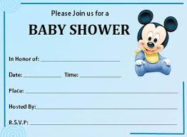 How To Make A Baby Shower Invitation On Microsoft Word Unique Mickey Mouse Baby Shower Invitations Printable Kinderhooktap