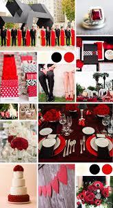 black red wedding white wedding theme