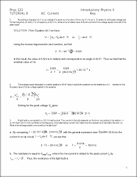 physics assignment phys introductory physics ii tutorial  this preview has intentionally blurred sections sign up to view the full version