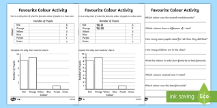 Blank Tally Chart And Bar Graph Worksheet Ks1 Favorite Color Tally And Bar Chart Worksheets