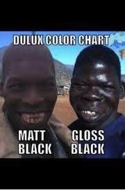 Dulun Color Chart Matt Gloss Black Black Meme On Me Me