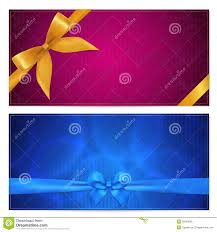 gift voucher coupon template red bow ribbons stock images gift voucher coupon template bow ribbons royalty stock photo