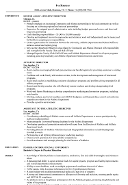sample athletic resumes athletic director resume samples velvet jobs