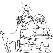 Santa And Reindeer Coloring Pages Reindeer Coloring Pages Reindeer