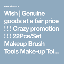 wish genuine goods at a fair crazy promotion