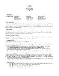 Resume For Journeyman Electrician Resume For Your Job Application