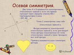Презентация на тему Осевая и центральная симметрии Геометрия  2 Осевая симметрия