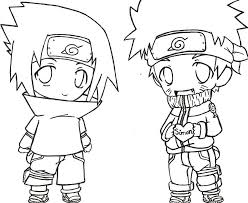 Naruto Chibi Coloring Pages Murderthestout