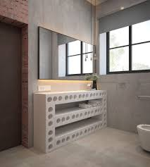 Home Designs: Bathroom With Industrial Theme - Industrial Decor