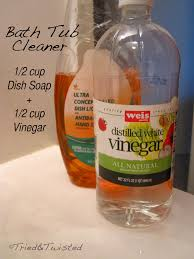 bath tub cleaner with vinegar and dish soap tried twisted