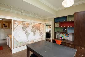 home office world. World Map Wall Design In Home Office