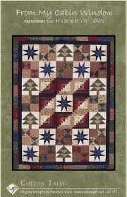 118 best Lodge Quilts images on Pinterest | Baby quilts, Bedroom ... & Cotton Tales Pattern From My Cabin Window Lodge Style Quilts ~ Cotton  Fabrics from Moda Adamdwight.com