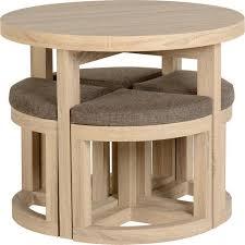 flat pack furniture. Cambourne Stowaway Dining Set In Sonoma Oak Effect Veneer/Brown Linen Fleck Flat Pack Furniture C