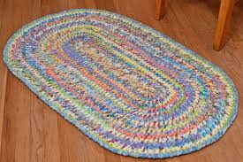 hand braided rag rug first spring day by