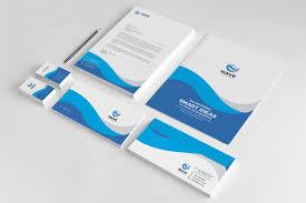 Design Corporate Wave Creative Corporate Identity Design Template Graphic