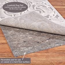 luxehold runner rug pad gray touch to zoom