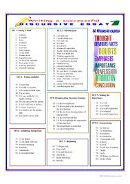 writing a successful discursive essay worksheet esl full screen