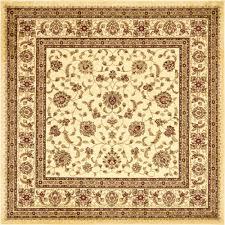 unique loom agra cream 8 ft x 8 ft square rug