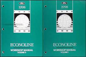 1998 ford econoline van club wagon electrical troubleshooting manual 1998 ford econoline van and club wagon repair shop manual set of 2 original