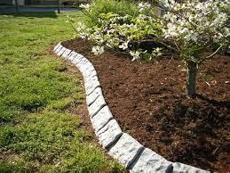 decorative stone garden edging