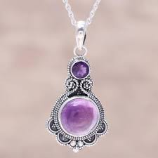 purple amethyst and sterling silver