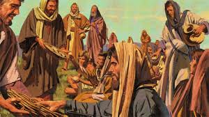 Image result for pictures of Jesus feeding people