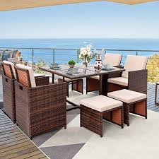 furniwell 9 pieces patio dining sets