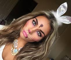 bunny band and great makeup idea for women costume
